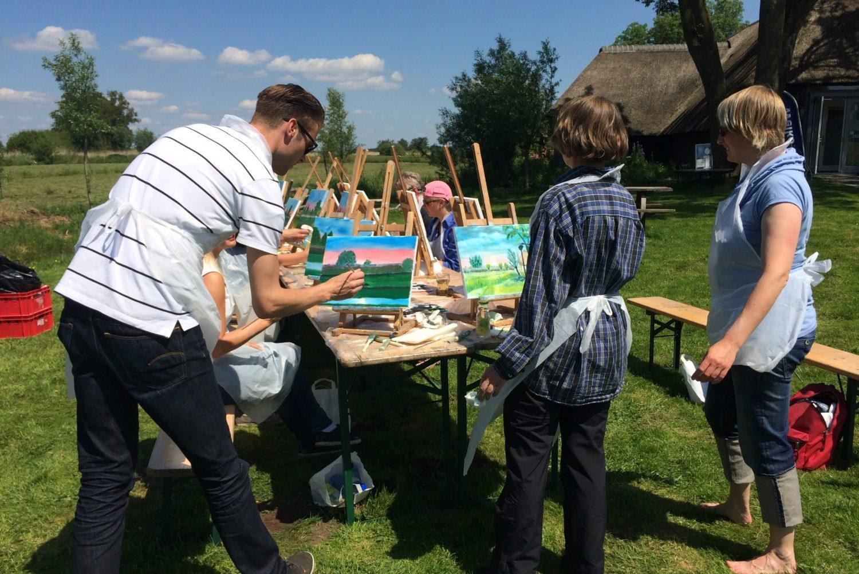 Workshop Schilderen bij Restaurant Eetcafe Giethoorn